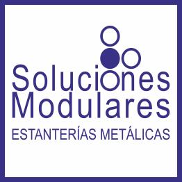 Estanterías metálicas en Tenerife, logo de la empresa Soluciones Modulares de almacenaje en Tenerife